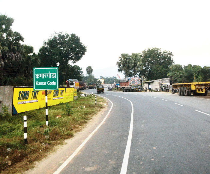 Kamargoda along Dobo-Kanderbera Road at Kapali in Seraikela-Kharsawan on Friday