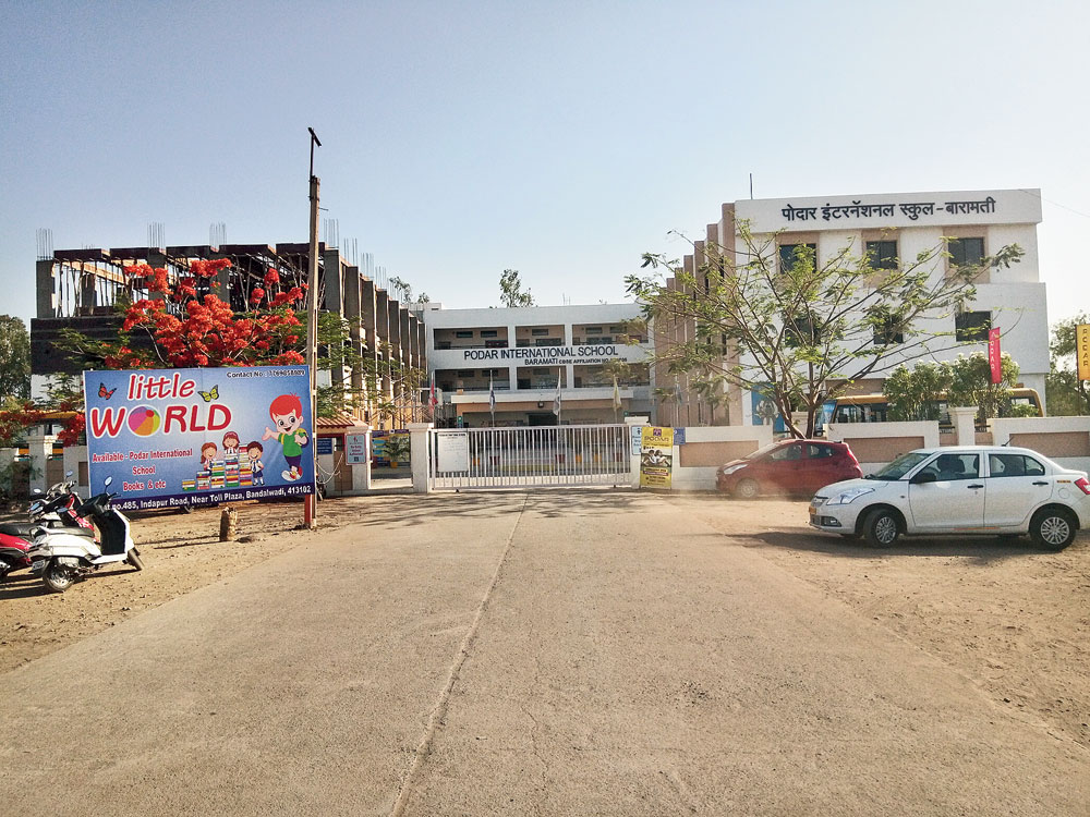 The Podar International School on the outskirts of Baramati in Pune district
