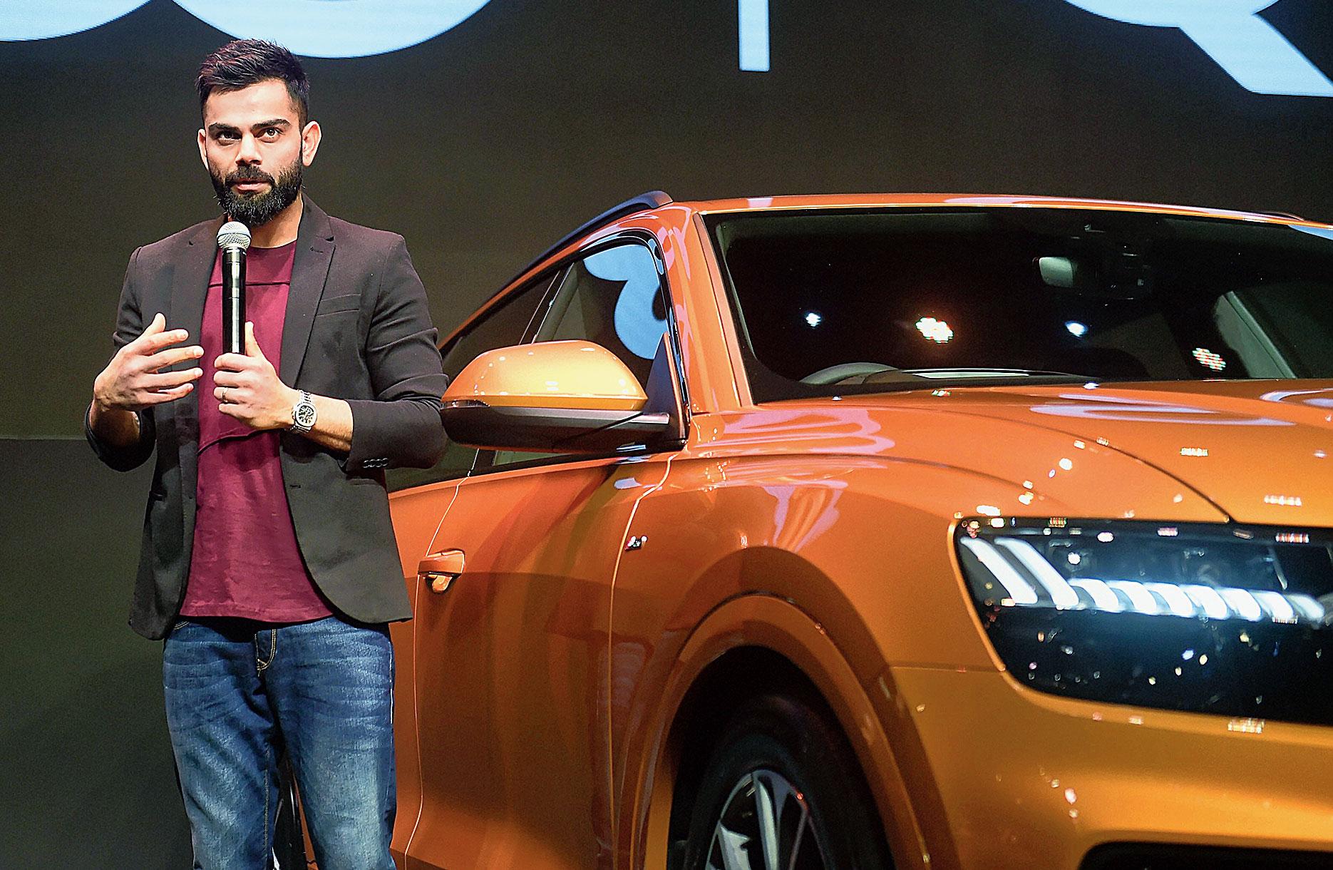 Virat Kohli during a promotional in Mumbai on Wednesday