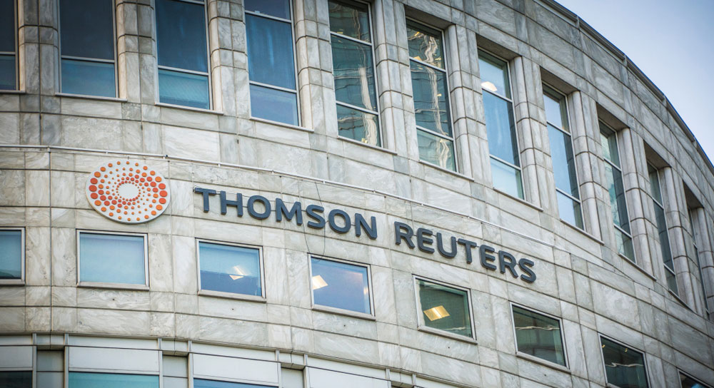 "A Thomson Reuters office in London. Asian News International (ANI), a partner, has been accused of ""defaming"" the intentions of an appeal against the use of the armed forces for political purposes"