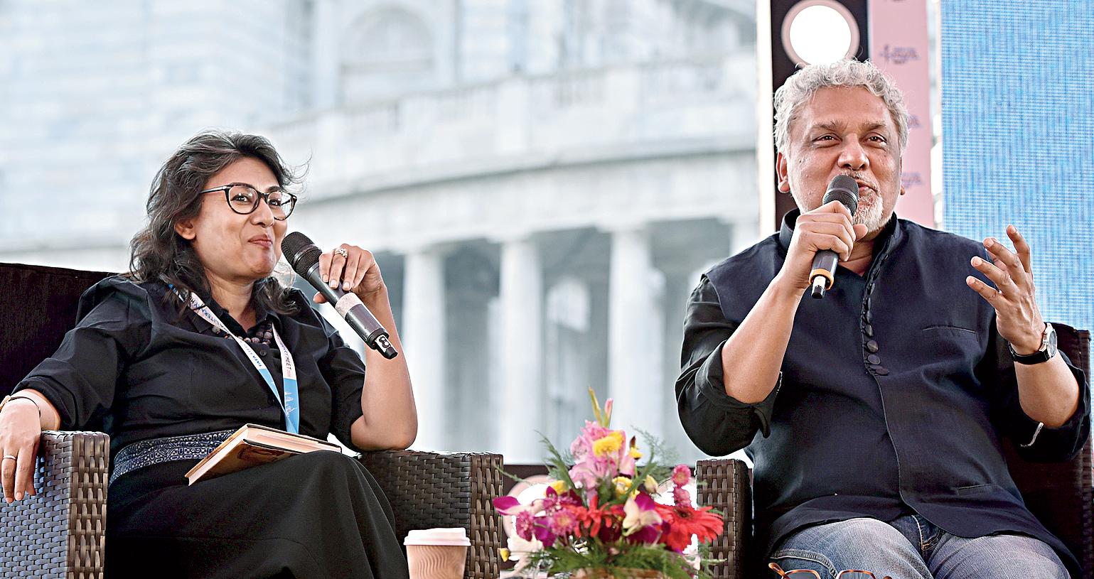 Jash Sen and Kunal Basu at Victoria Memorial for Tata Steel Kolkata Literary Meet on January 22.