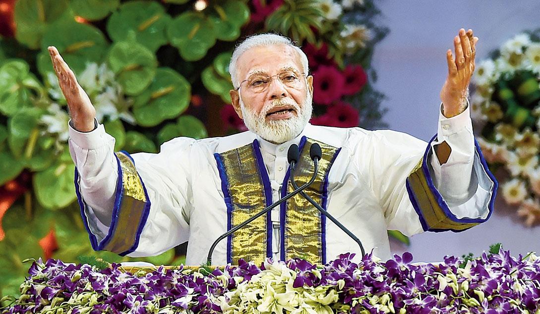Narendra Modi at the convocation in Chennai on Monday.
