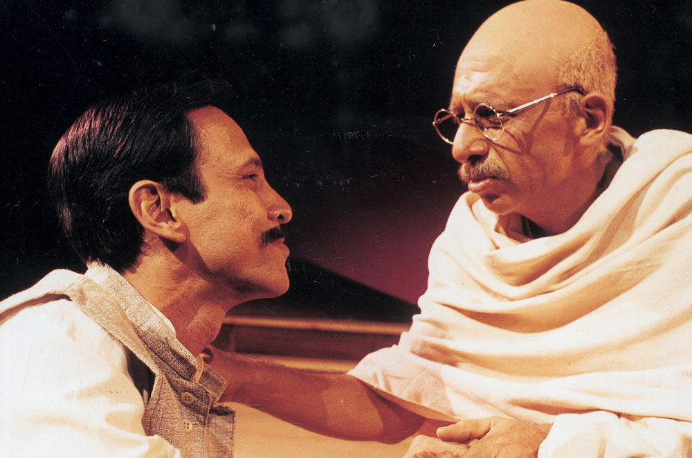 Naseeruddin Shah and Kay Kay Menon in the English drama, Mahatma vs Gandhi