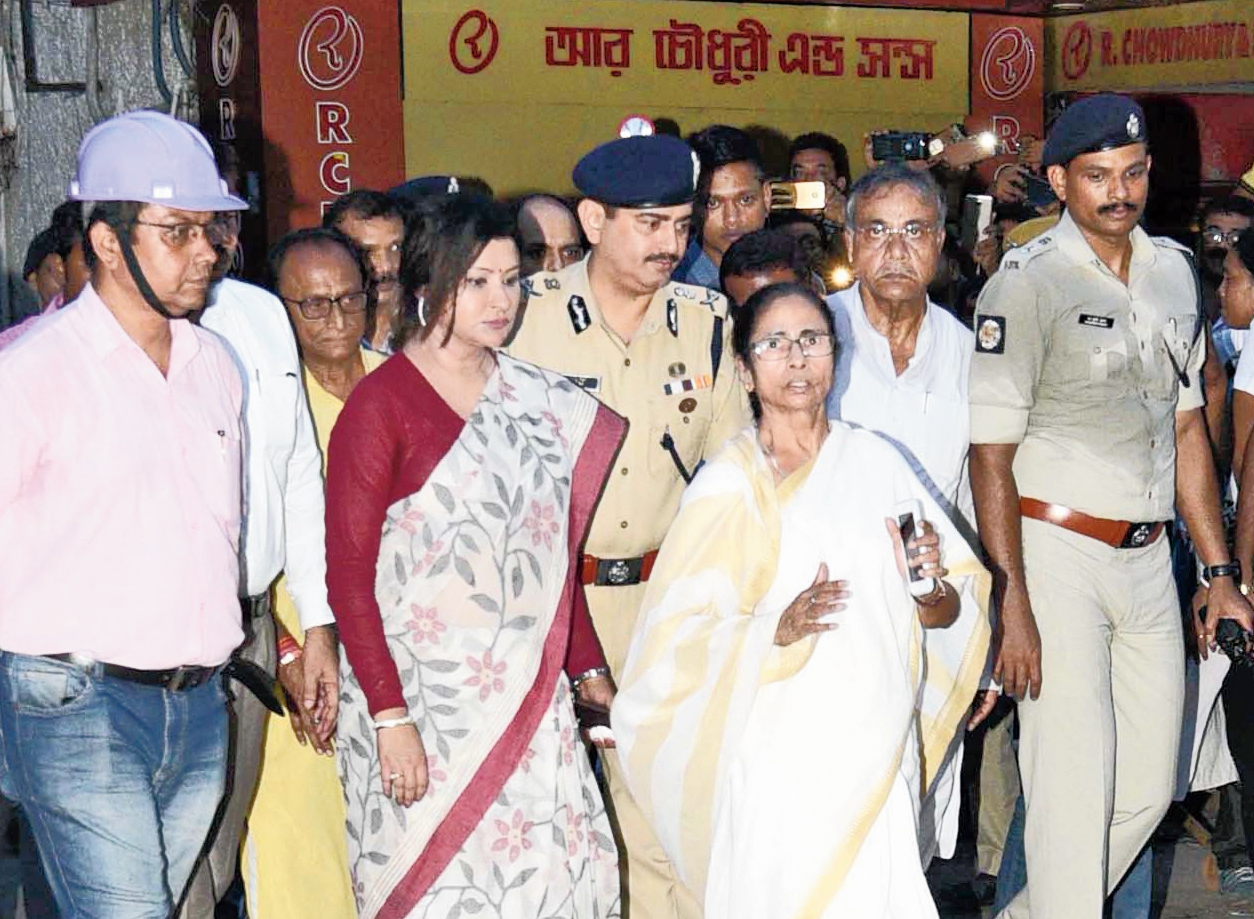 Chief minister Mamata Banerjee visits Bowbazar on Monday evening.