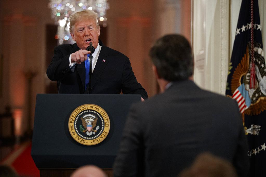 Donald Trump takes away Jim Acosta's press pass
