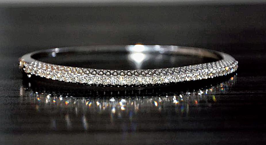 The white gold bracelet