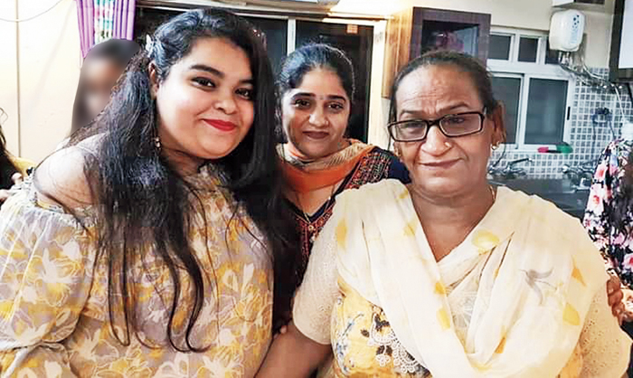Urmila Devi (right) with her daughter-in-law Dimple Jund (centre) and granddaughter Kanika Jund