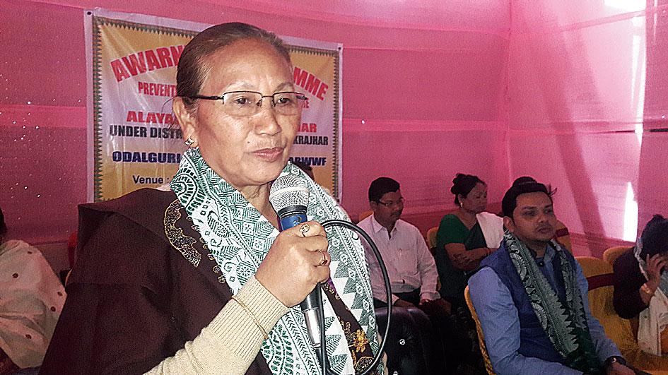 Pramila Rani Brahma at the event on Saturday