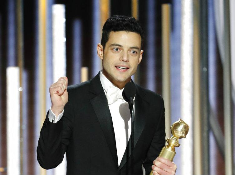 Rami Malek after winning Best Actor - Drama at Golden Globes 2019.