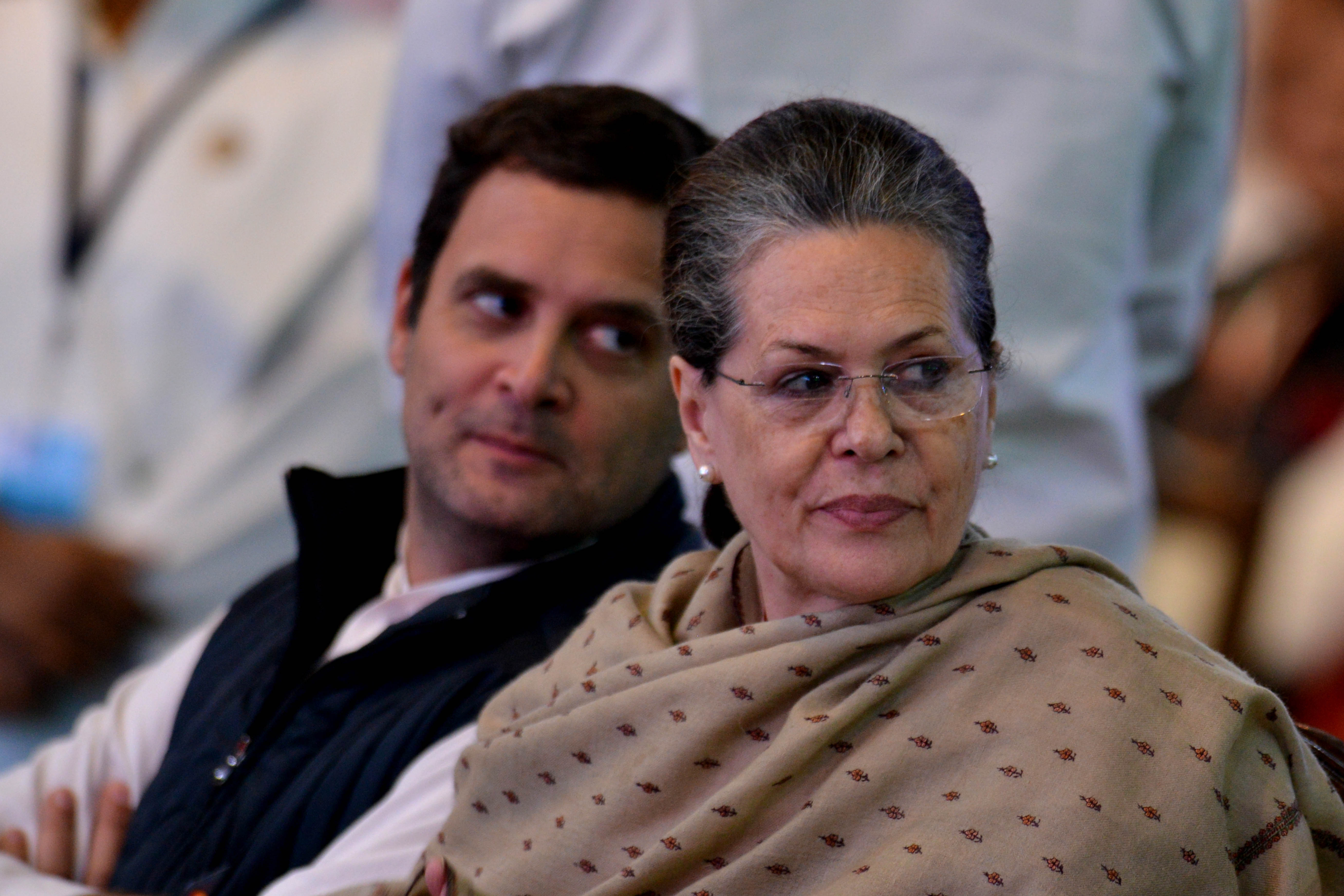 Rahul and Sonia Gandhi.