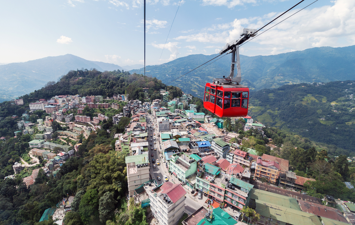 View of Gangtok. Sikkim has a poverty ratio of 8 to 9 per cent, much lower than the all-India average, so the resources required to implement universal basic income would not be very challenging to generate