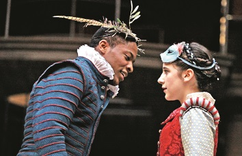 A moment from the play, Romeo and Juliet at Shakespeare's Globe.