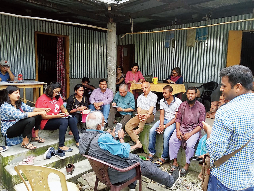 The Karwan-e-Mohabbat team meets villagers during its visit to Assam in October.