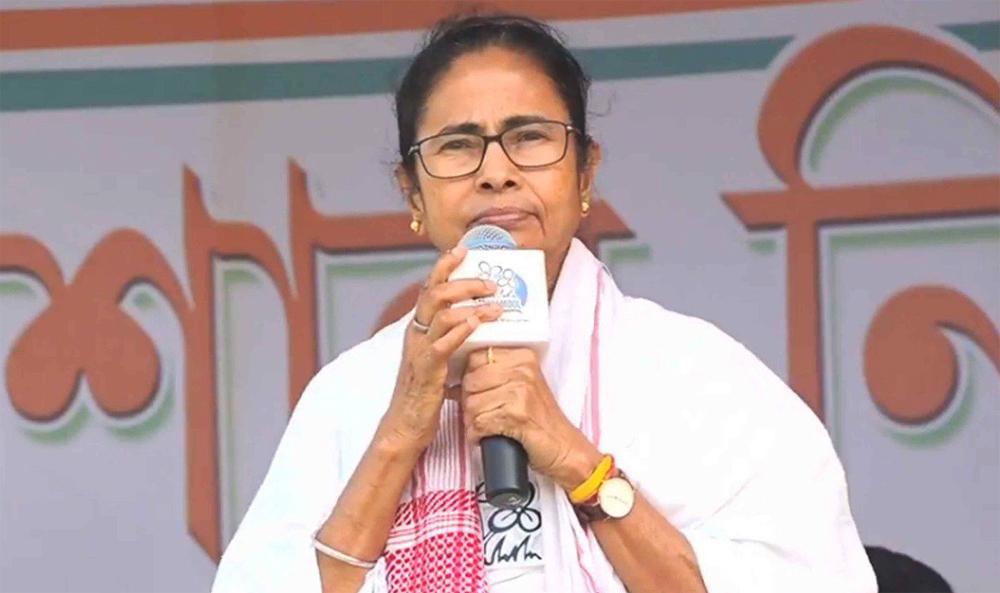 Mamata Banerjee in Dhubri on Friday.