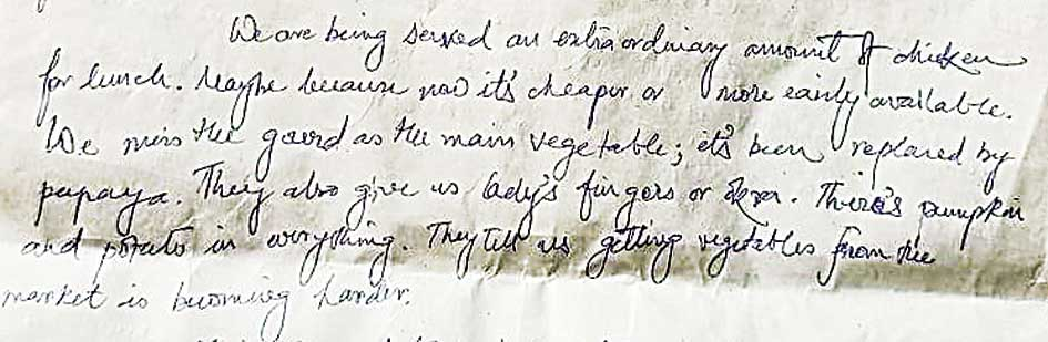 The contents of this hand-written note are reproduced below
