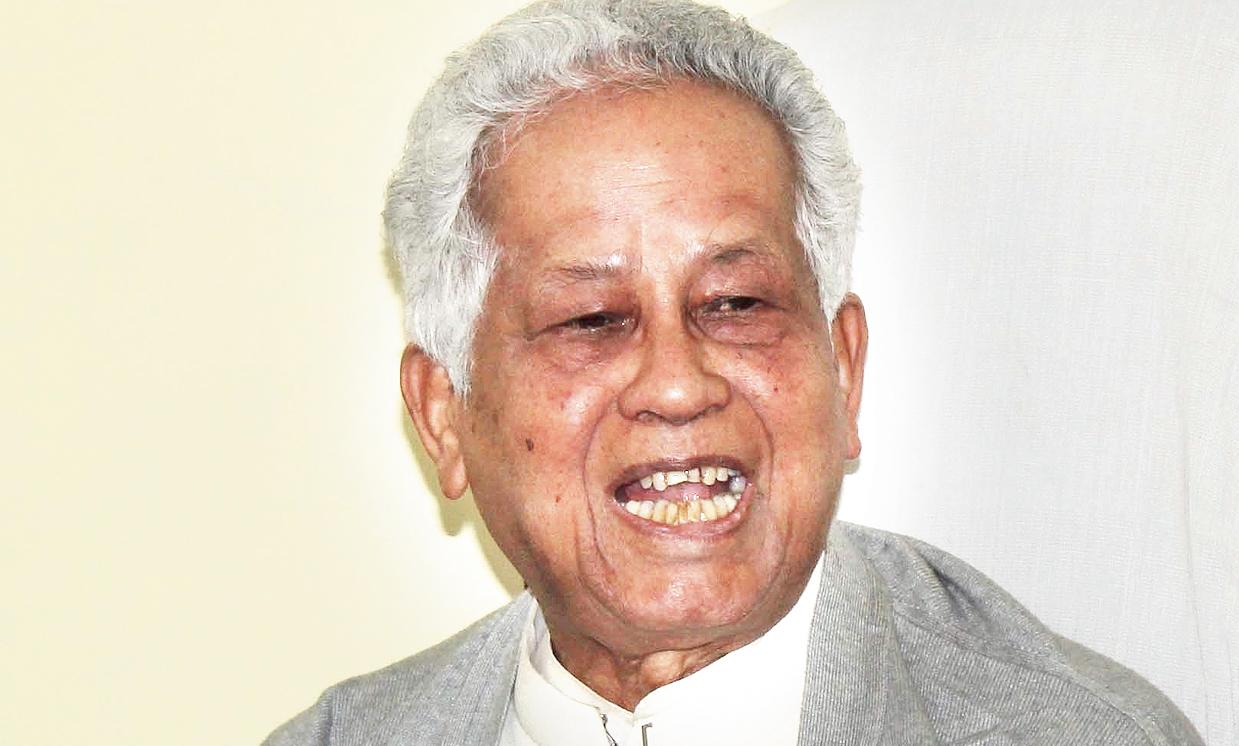 Former Assam chief minister Tarun Gogoi in Guwahati on Sunday.