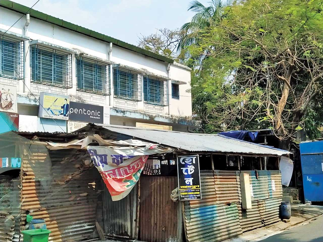 BD Market, where the infected man's family shopped, shut on Wednesday.