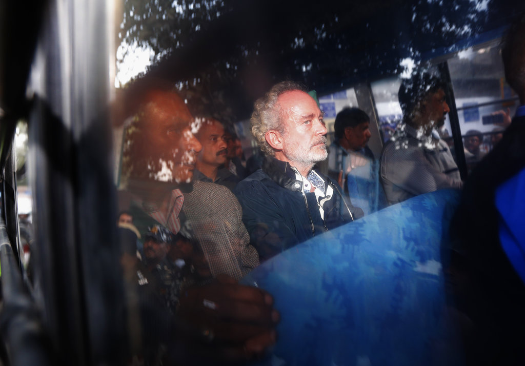 Christian Michel after appearing before a CBI court in Delhi on December 5, 2018.