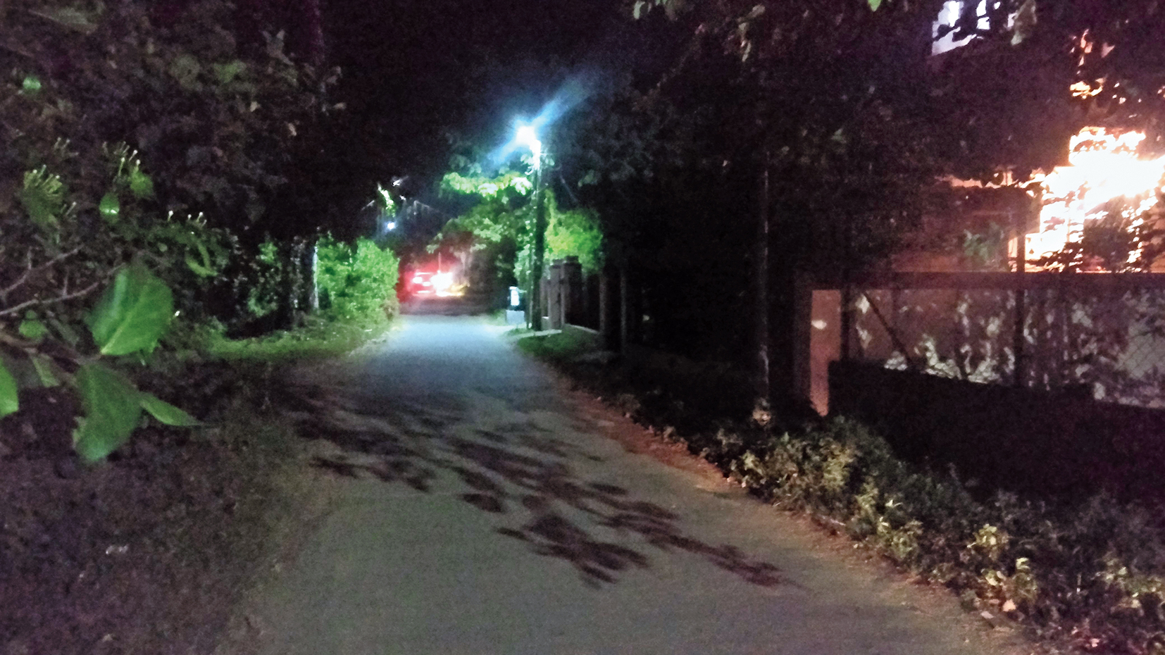 A dark stretch in Santineketan.