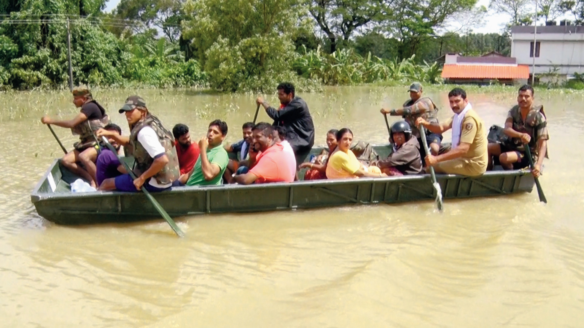 Scene from the recent flood in Kerala that Discovery Channel has featured in the documentary.