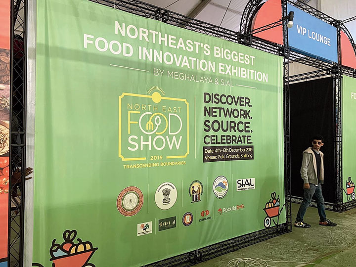 A poster at Polo Ground in Shillong, venue of the Northeast Food Show