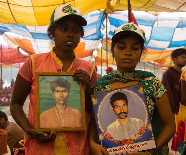 Ramiah and Ashwini at New Delhi's Ramlila Grounds