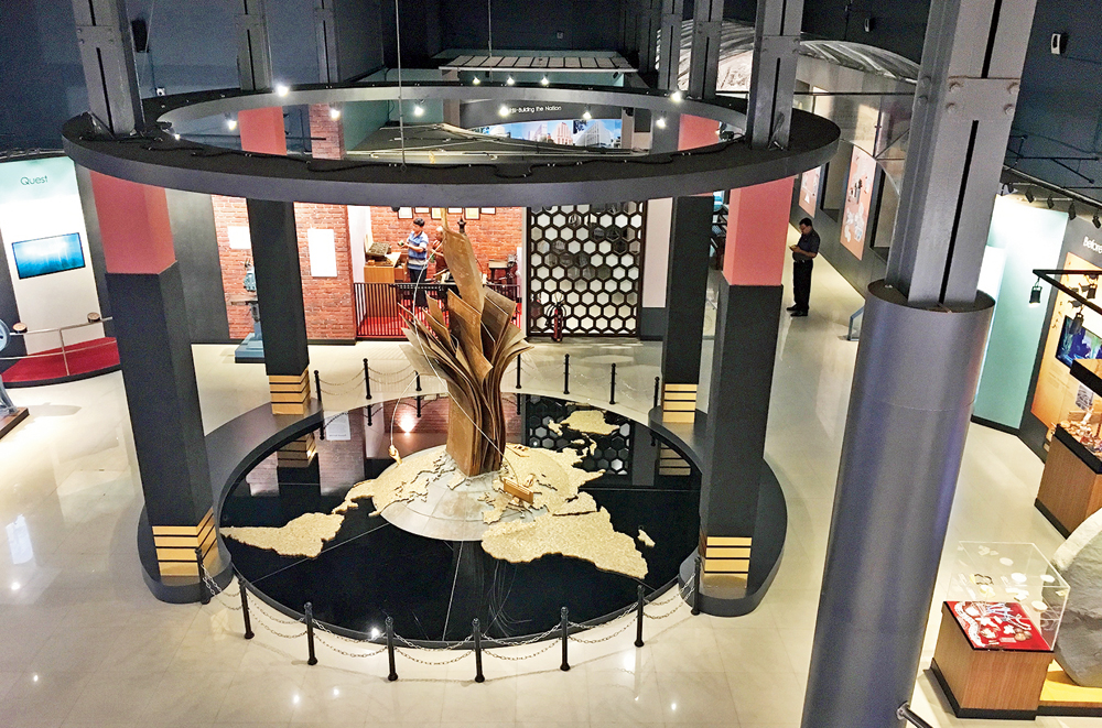 Cash and tarry: An installation work at the RBI museum in Calcutta