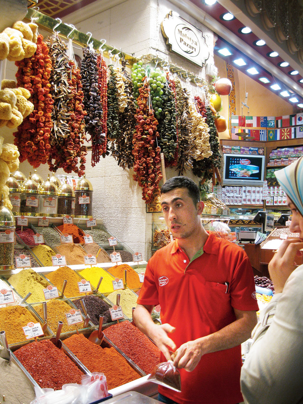 A spice shop at the Grand Bazaar