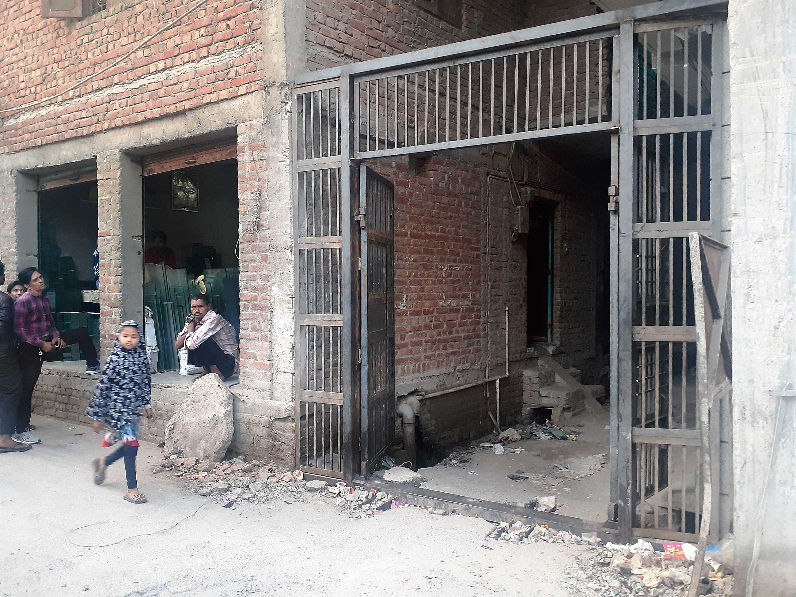 An iron gate installed at New Mustafabad in northeast Delhi in the aftermath of the riots. Similar gates have come up in Hindu-dominated Brijpuri on the other side.