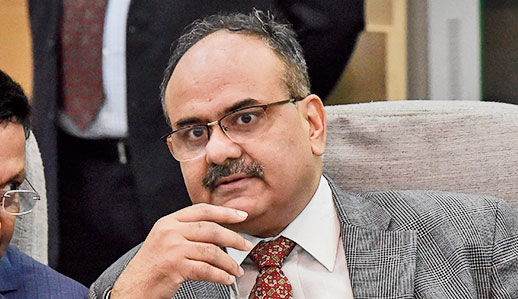 Ajay Bhushan Pandey in New Delhi on Tuesday.