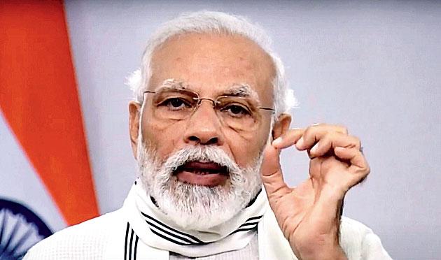Modi in New Delhi on Thursday.