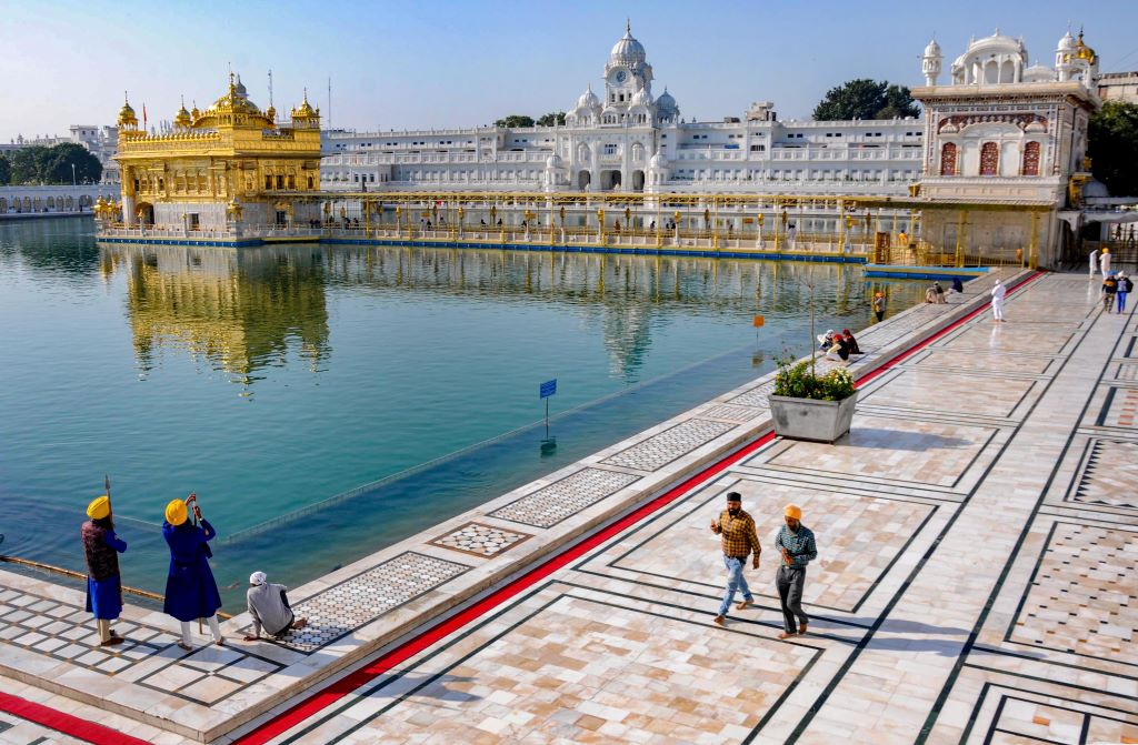A deserted Golden Temple during Janata curfew in the wake of coronavirus pandemic, in Amritsar, Sunday, March 22, 2020.