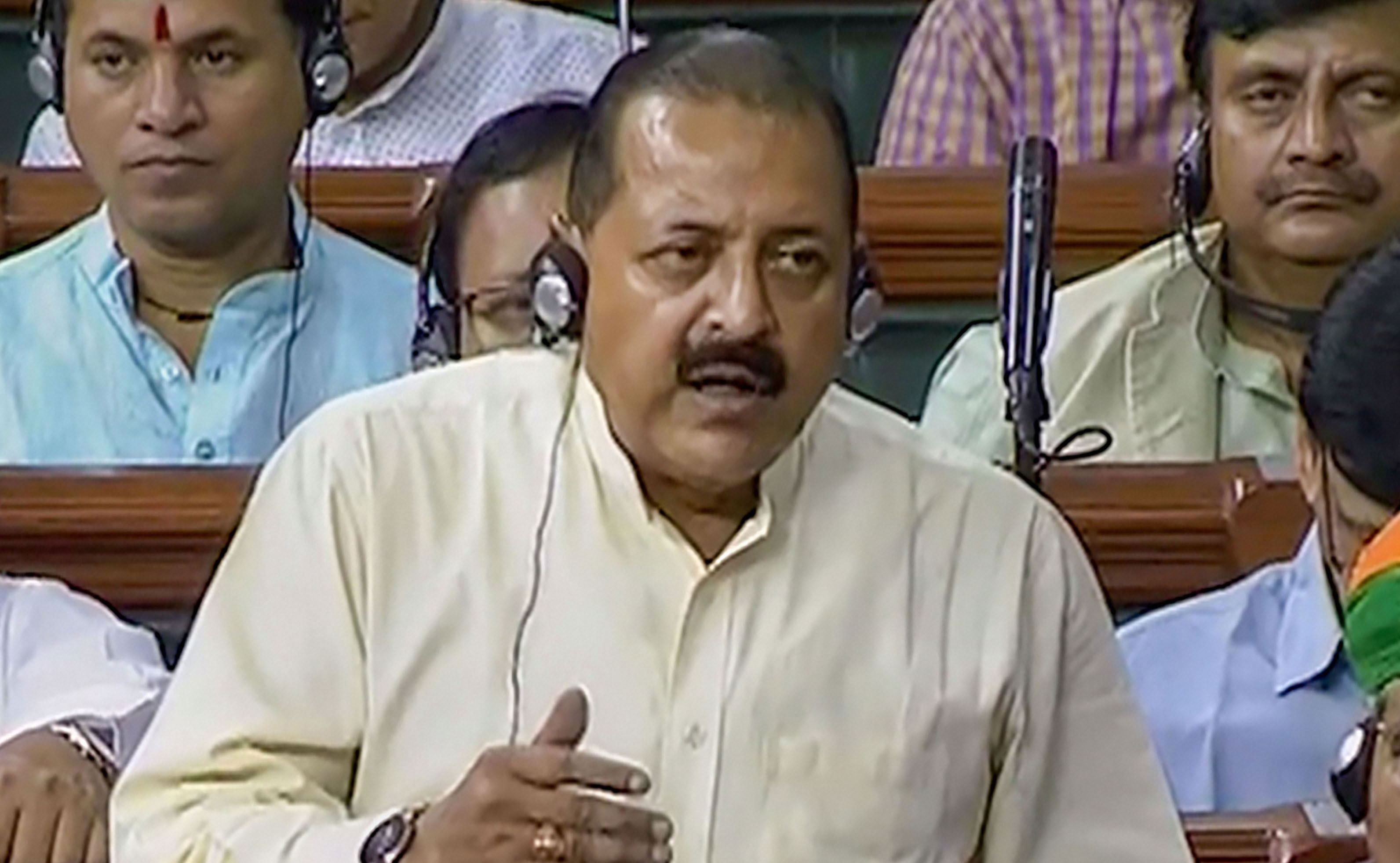 "Jitendra Singh, who represents Jammu's Udhampur in Parliament, last month repeated in the Lok Sabha his claim that militancy in the Valley had ""entered its last phase""."