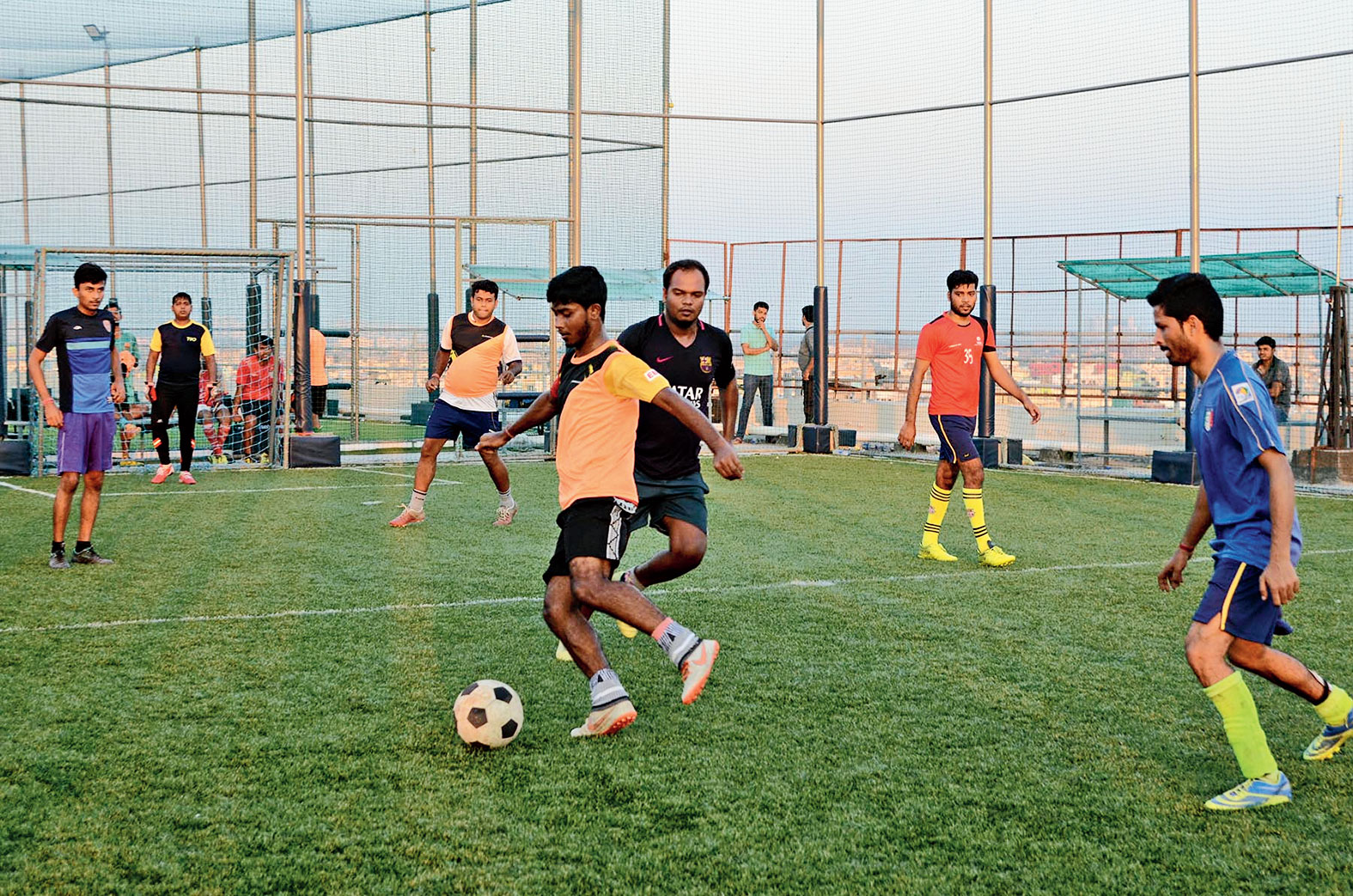 Youths play soccer at Turf Street on AMP Vaisaakkhi mall