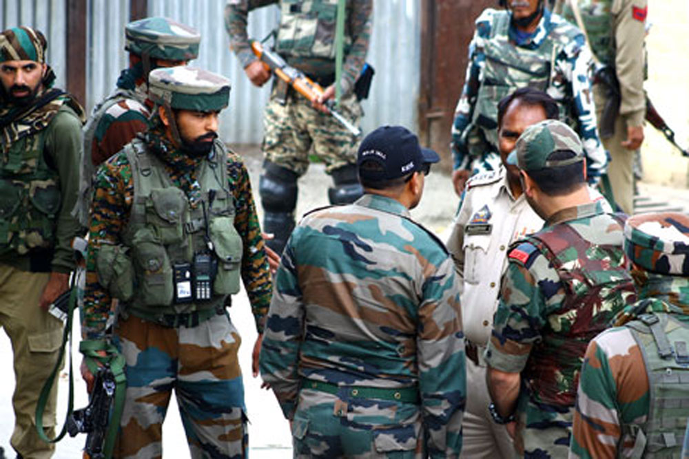 Security forces in J&K. (Representational image)
