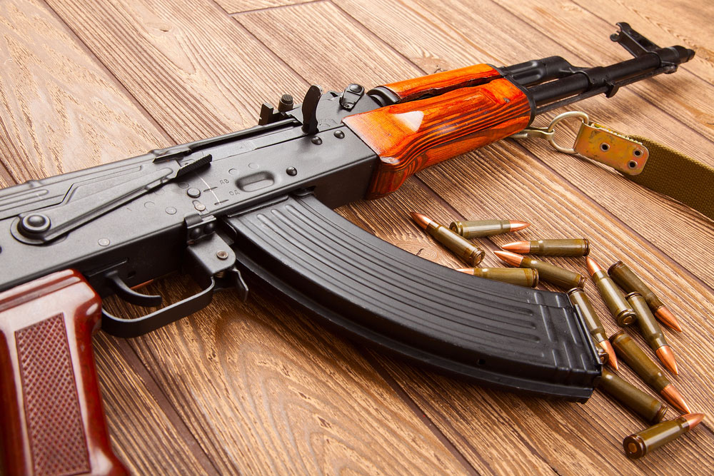 Police and paramilitary personnel have recovered an AK-47 rifle from the spot.