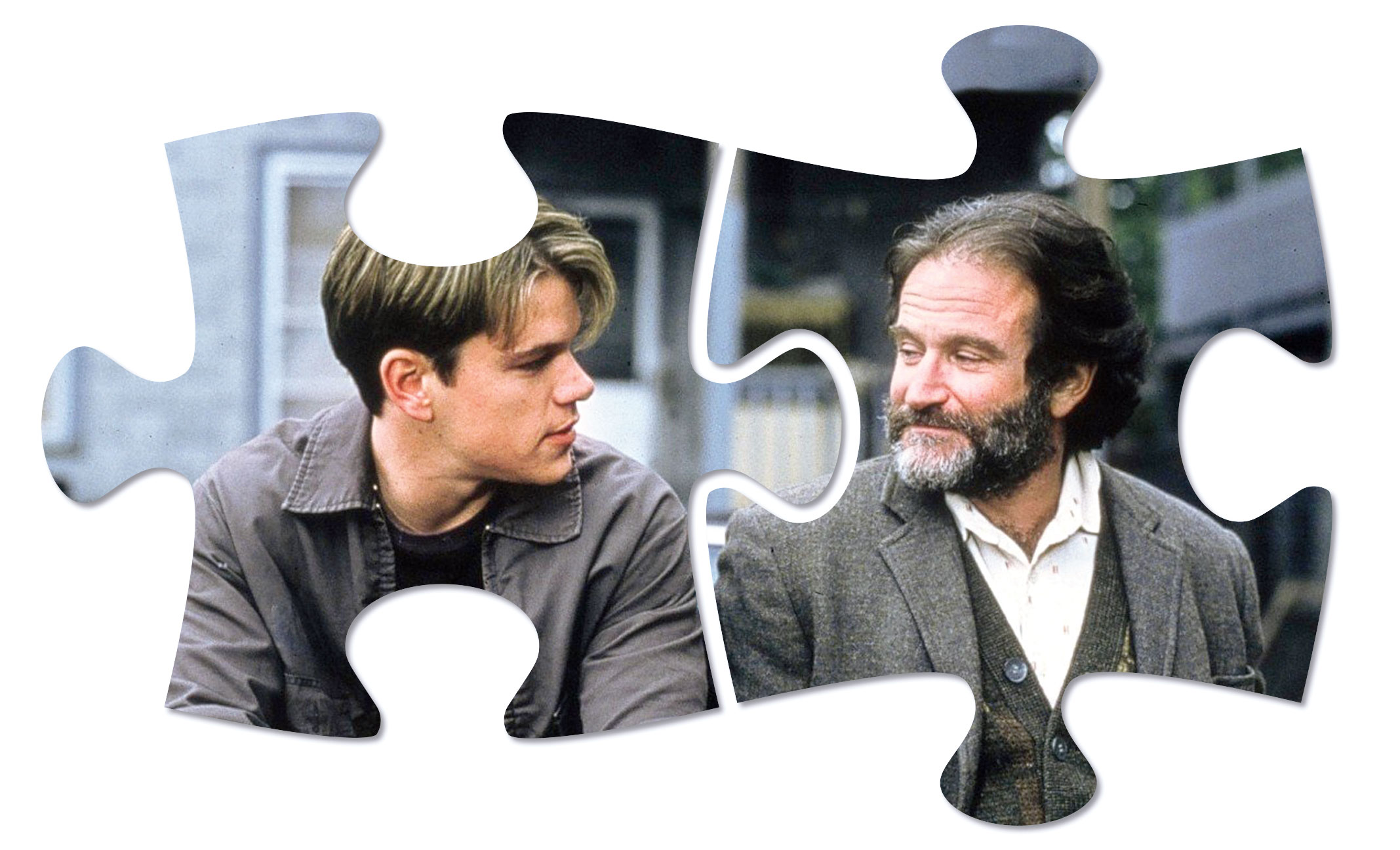 In Good Will Hunting, therapist Sean McGuire (Robin Williams) and boy genius Will Hunting (Matt Damon) in need of counselling, develop a doctor-patient sparring that becomes affecting and important to both parties.