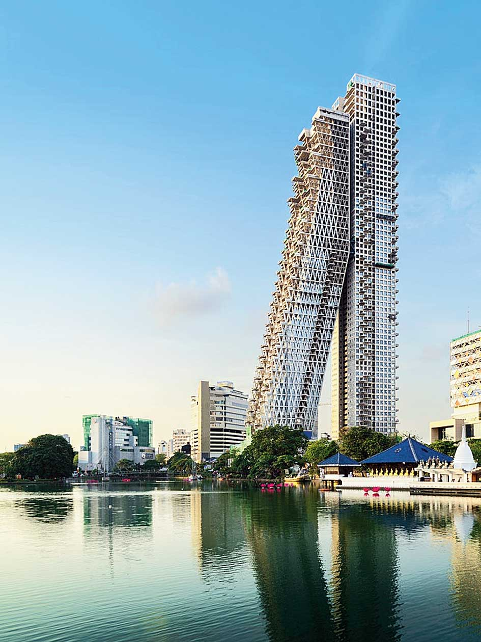 A photograph from the website of Safdie Architects shows the Altair project in Colombo