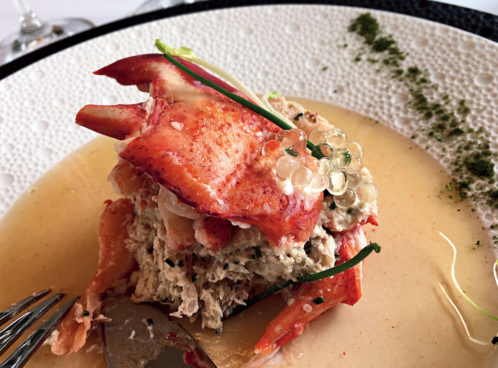 Lobster salad with champagne sauce at Piper-Heidsieck