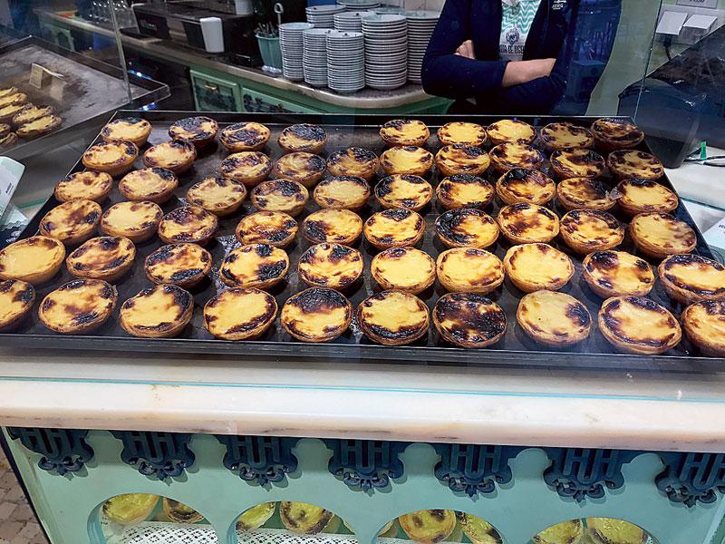 Pasteis de Nata is the popular custard tart that's typical of Lisbon