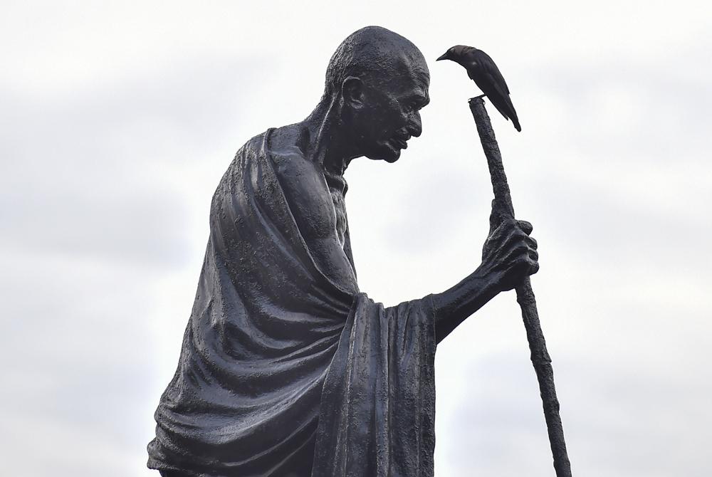 A statue of the Mahatma in Calcutta