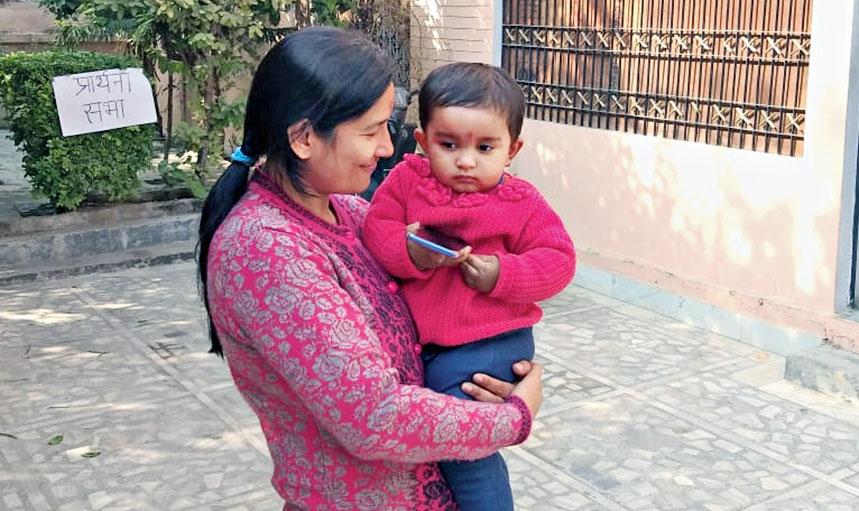 Champak with her mother Ekta Shekhar