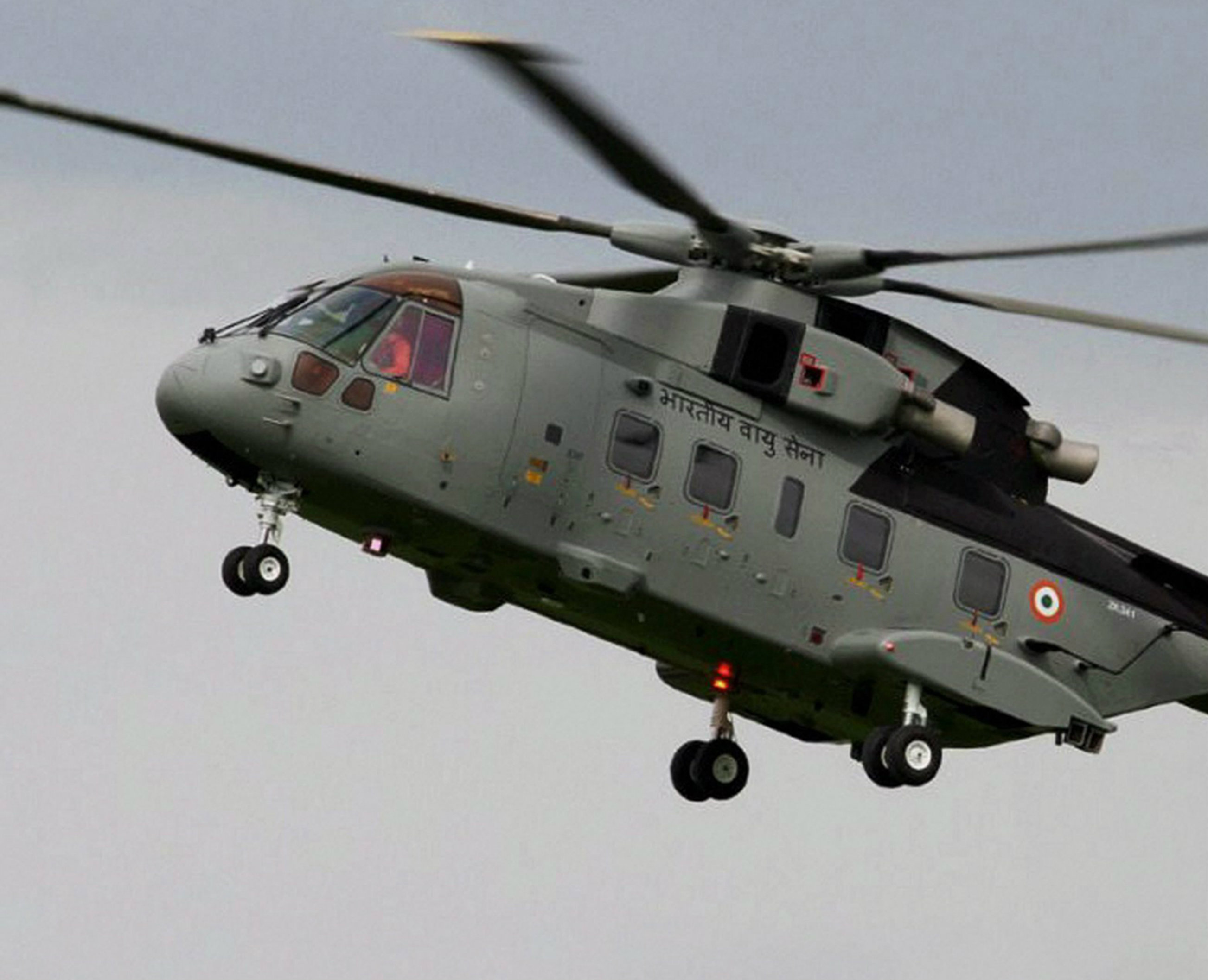 A file photo of an AgustaWestland VVIP helicopter.