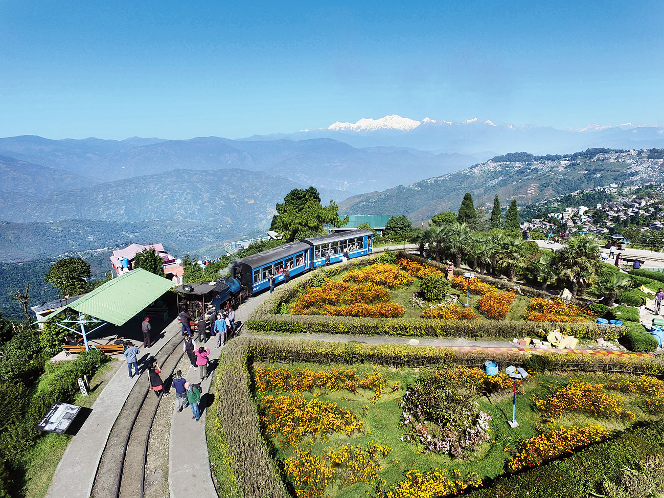 A scenic view of the Batasia Loop in Darjeeling, one of Bengal's tourist magnets.