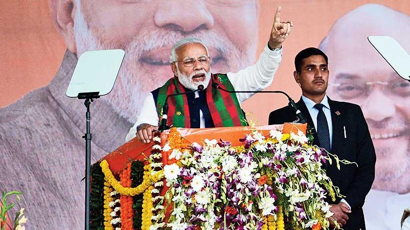 Prime Minister Narendra Modi in Odisha's Baripada on Saturday.
