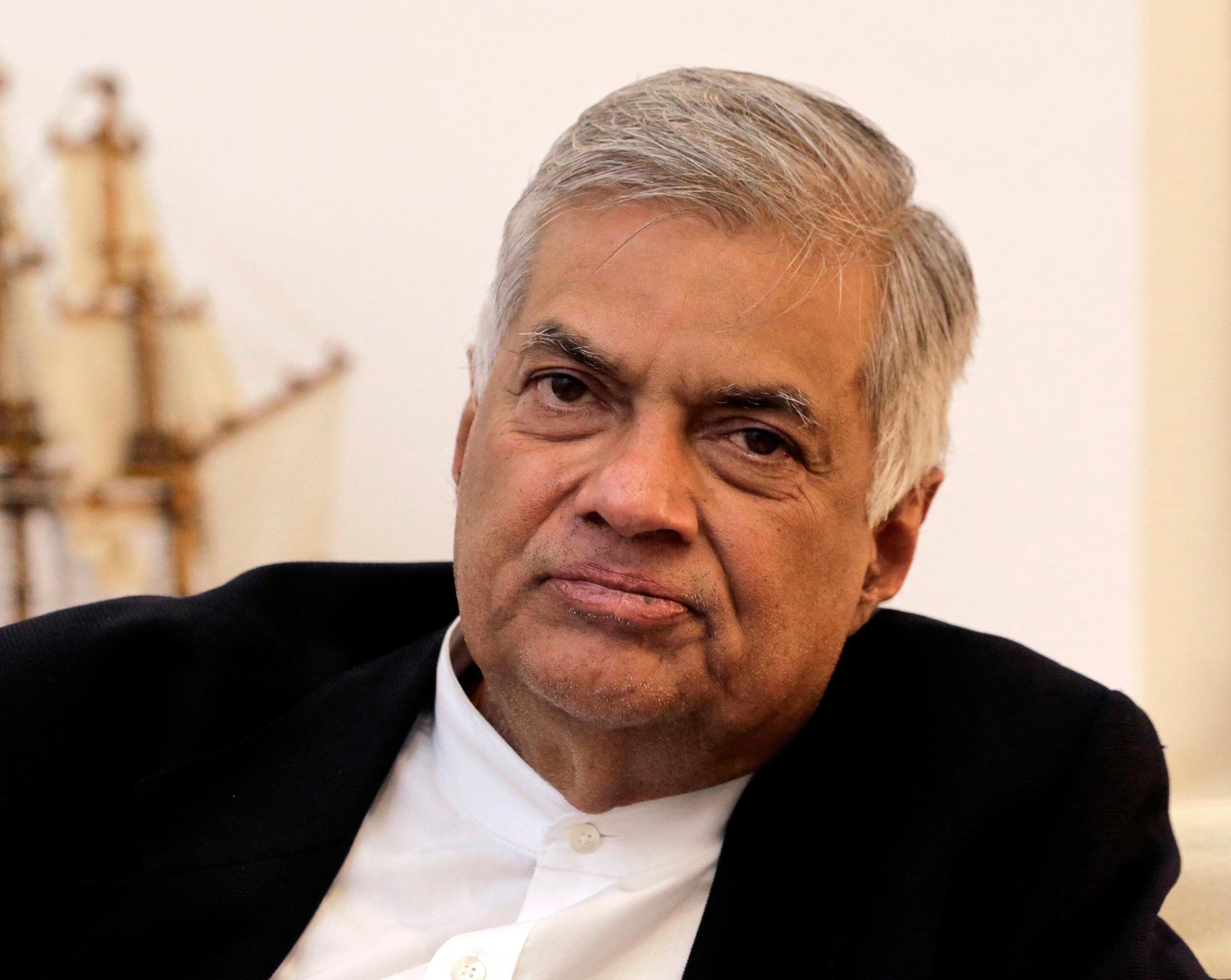 File picture of Ranil Wickremesinghe in Colombo, Sri Lanka, dated November 2, 2018