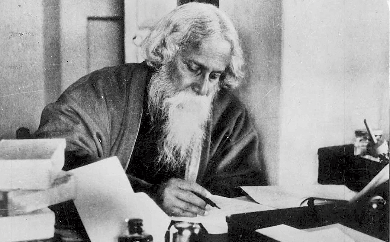 Rabindranath Tagore at his study table. The bard's birth anniversary is next week. Ashok was a favourite of his