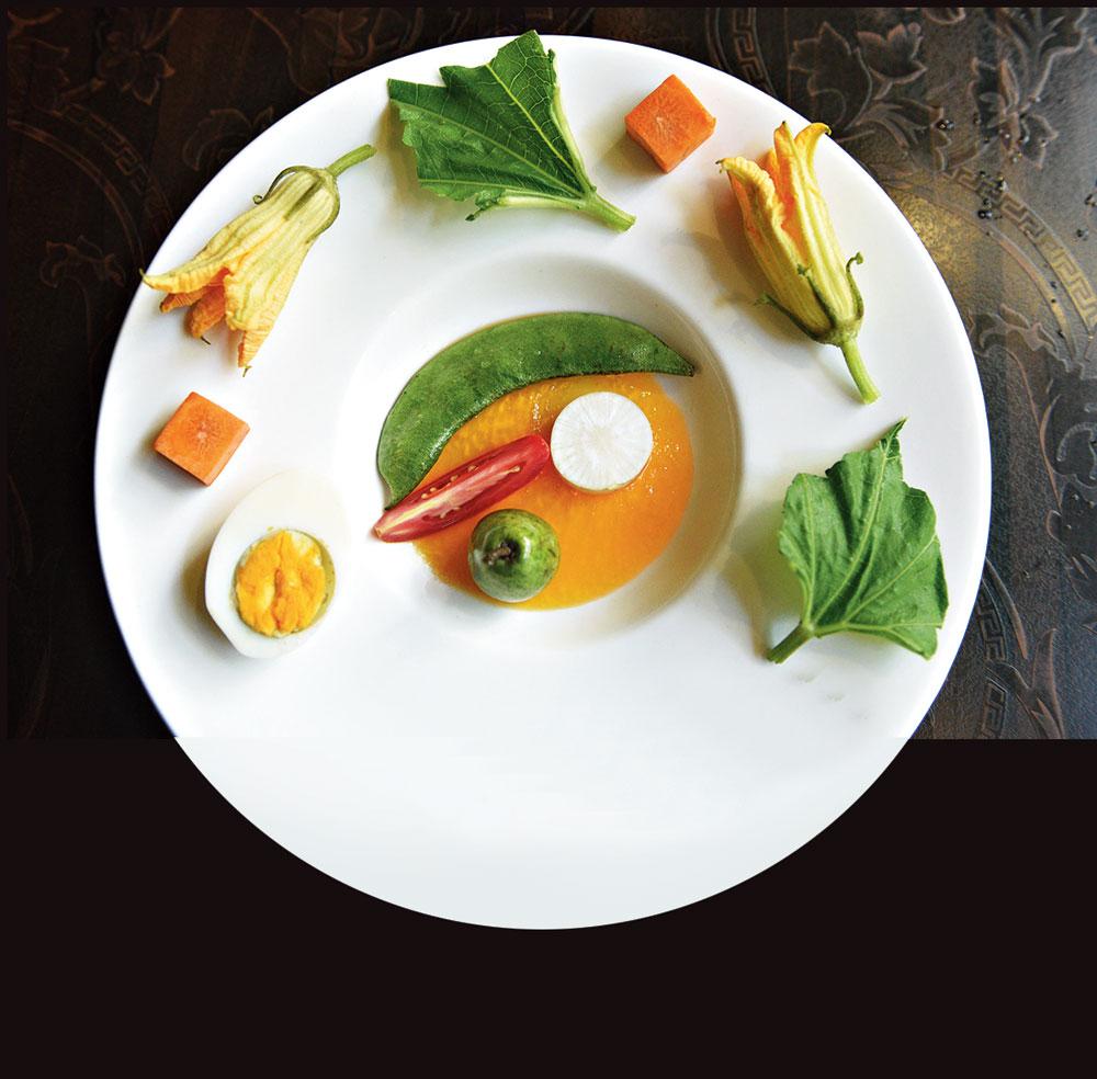 Kumro Phooler Nicoise, Sheem, Darjeeling Orange Vinaigrette