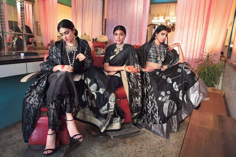 A glimpse of Masaba's summer festive line, shot in a barbershop.