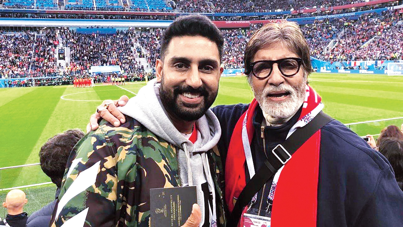 My father (Amitabh Bachchan) is 76 and he still panics the night before a scene. He's still inspired to put in his best. I want to be like that at 76.